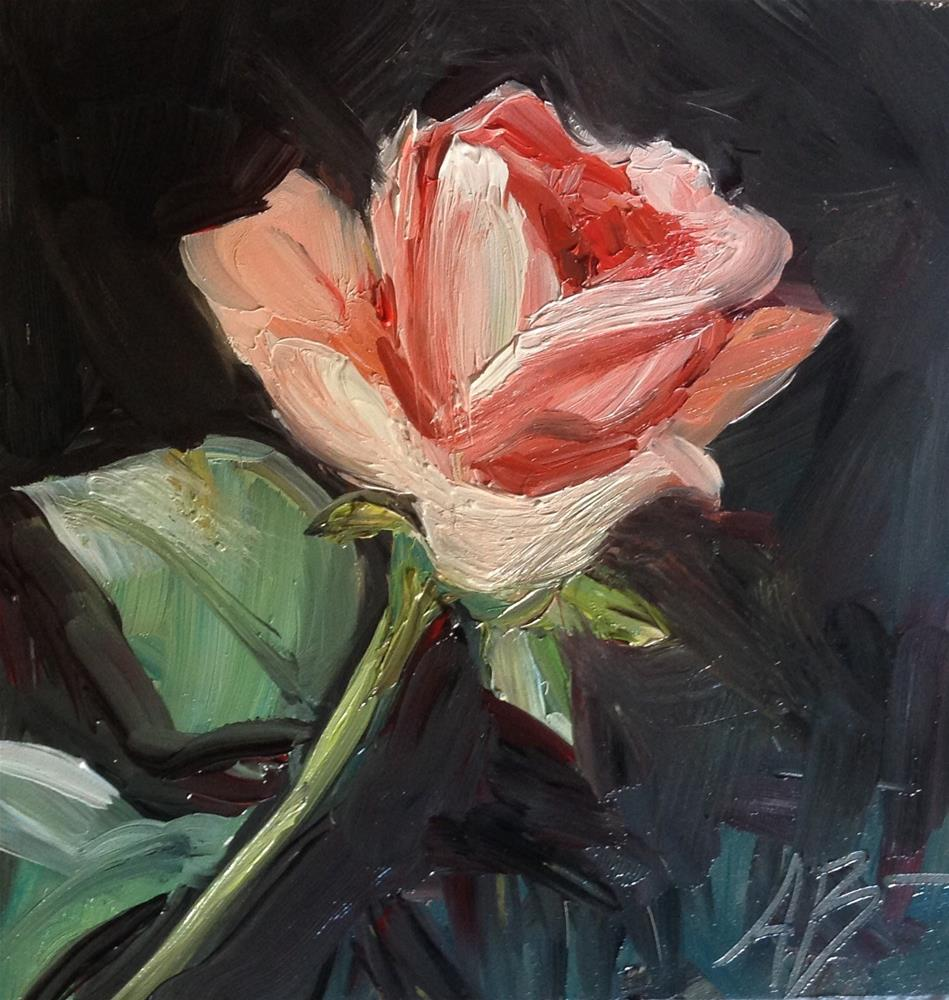 """My first study of a Rose"" original fine art by Annette Balesteri"