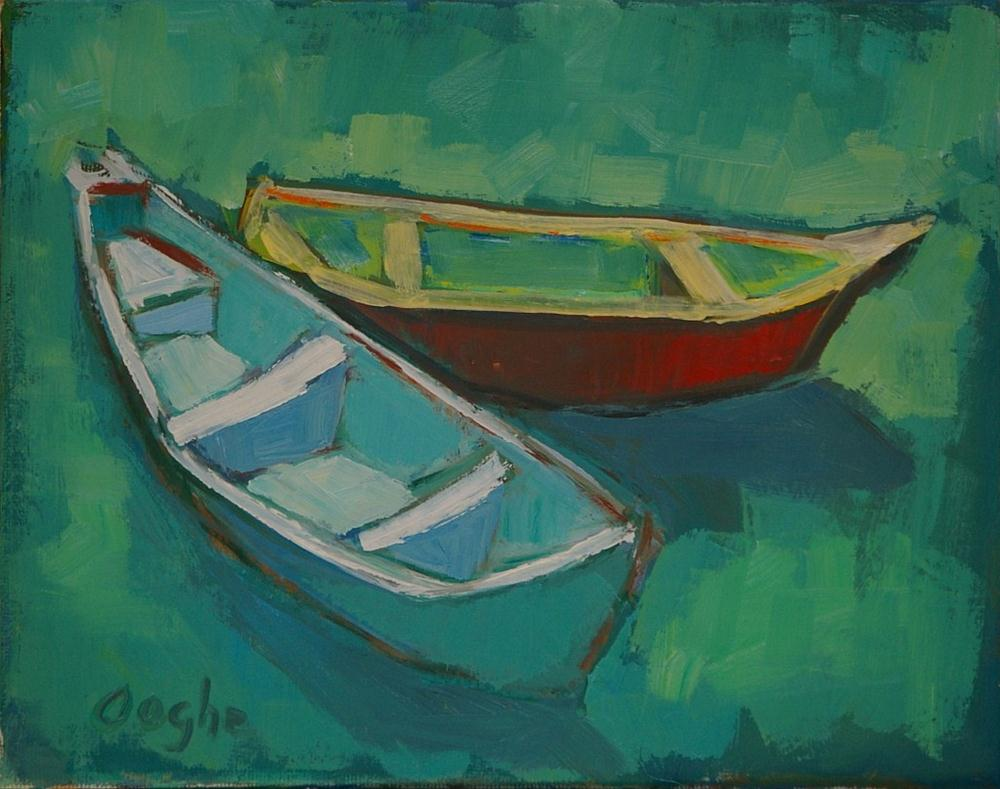 """Boats in the Sun"" original fine art by Angela Ooghe"