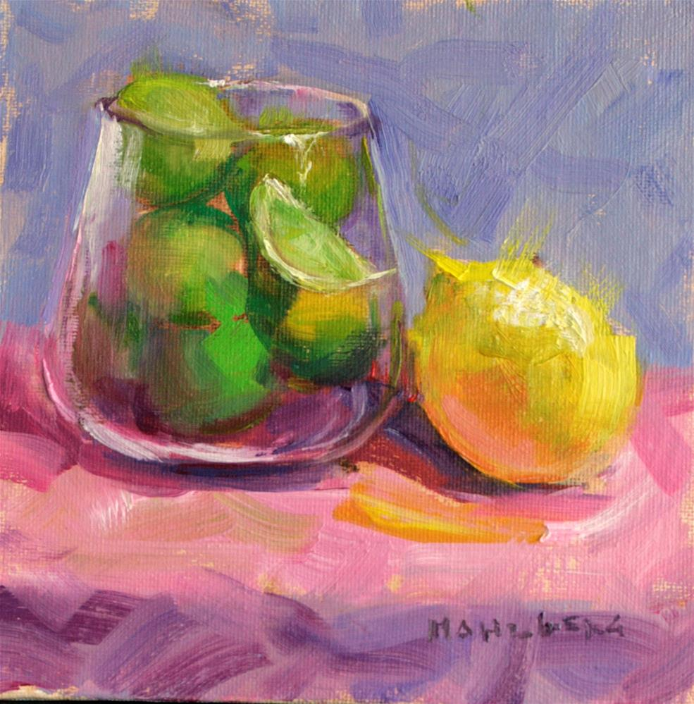 """Lemon Kiss"" original fine art by Cynthia Mahlberg"