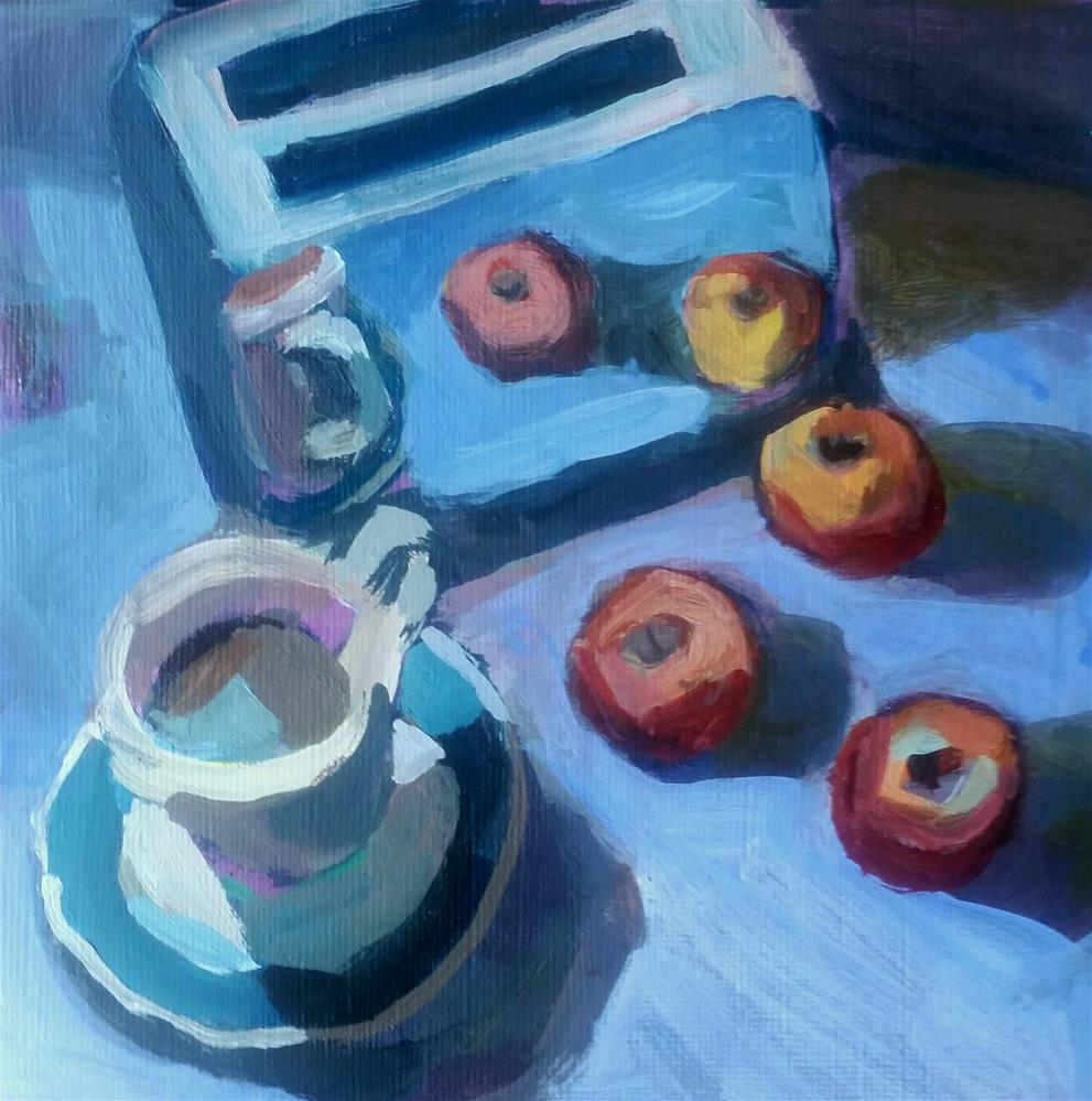 """Toaster Reflections  "" original fine art by Liz Maynes"
