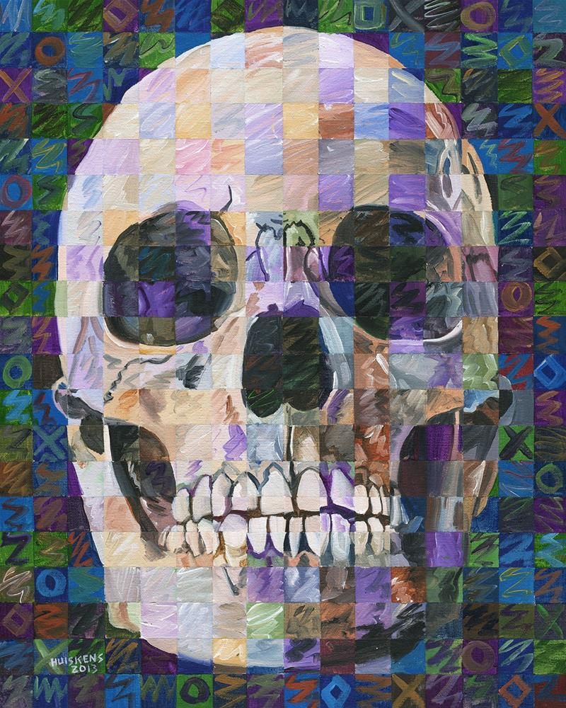 """Skull No. 1"" original fine art by Randal Huiskens"