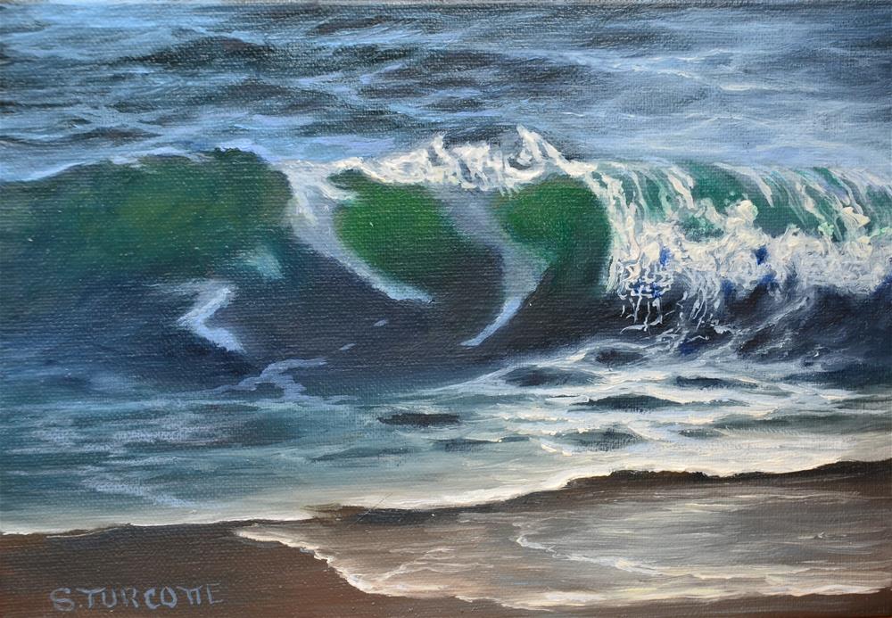 """Wave Study"" original fine art by Shayna Turcotte"