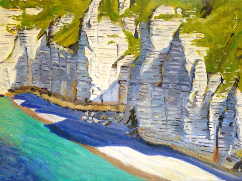"""Cliffs of Etretat France III"" original fine art by Daniel Fishback"