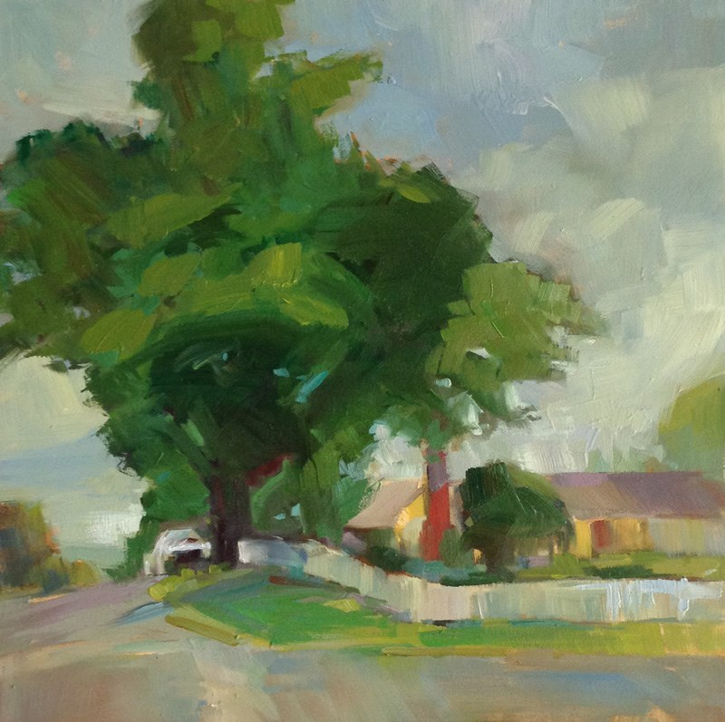 """""""A Tree Grows in Oakland"""" original fine art by Patti McNutt"""