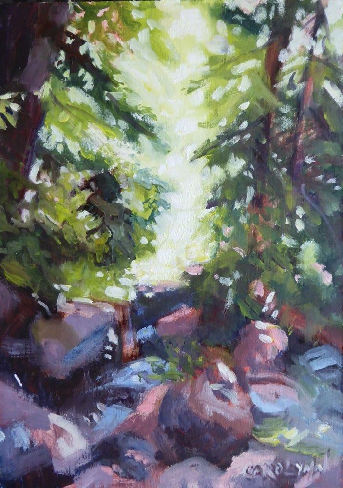 """China Beach to Mystic Beach"" original fine art by Carolynn Doan"