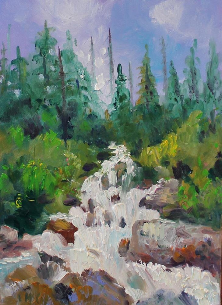 """Rushing Water, Colorado River"" original fine art by Linda McCoy"