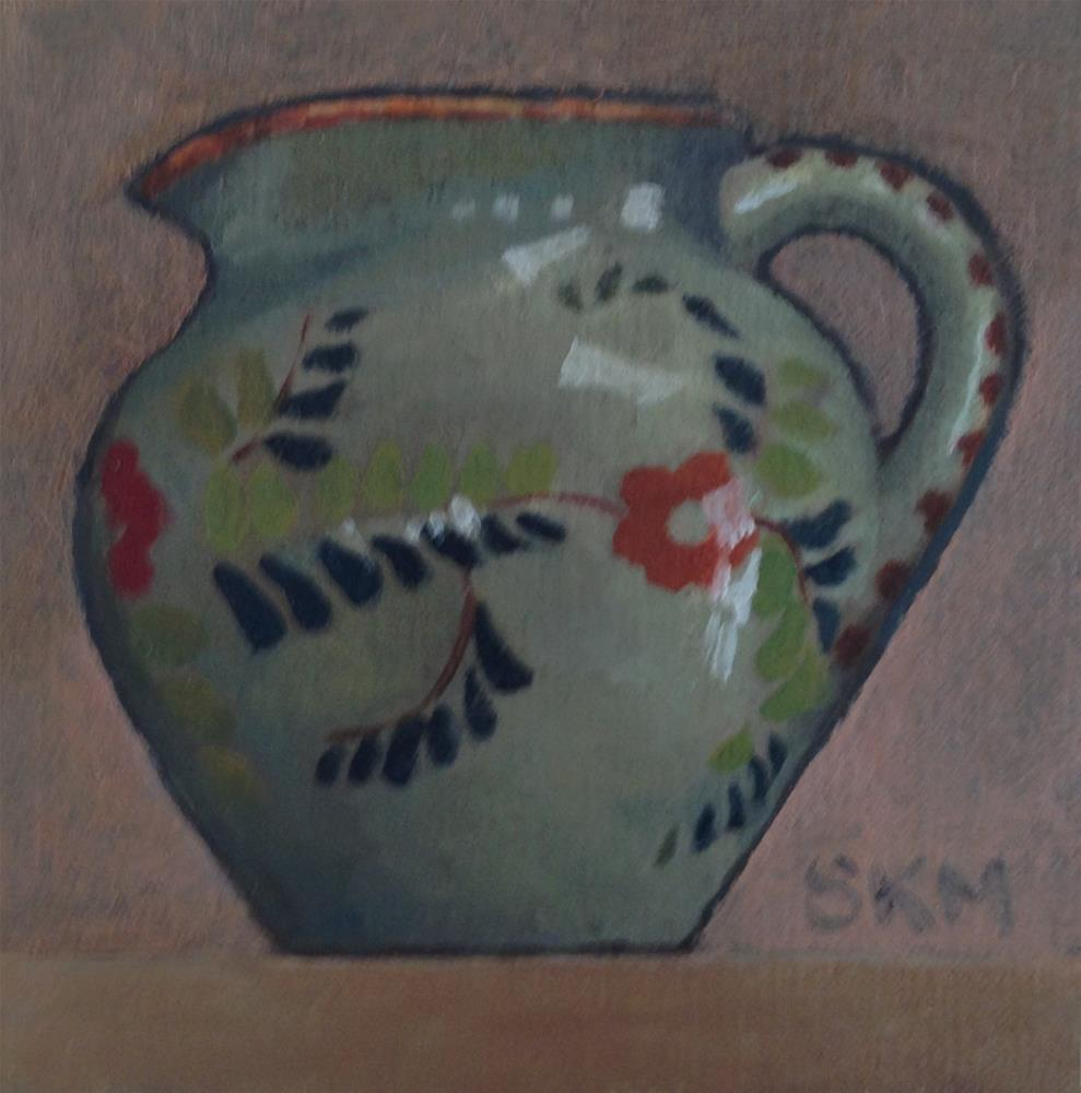 """""""small pitcher, small painting"""" original fine art by Sarah Meredith"""