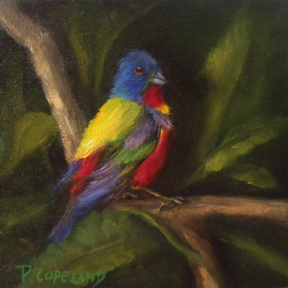 """Painted Bunting"" original fine art by Pamela H. Copeland"