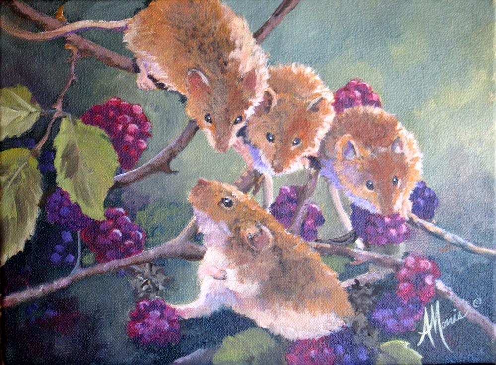 """Berry Pickers"" original fine art by Andrea Morris"