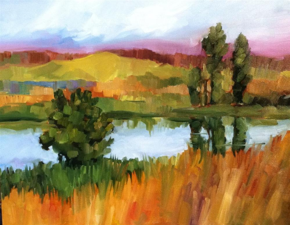 """Let the River Run"" original fine art by Libby Anderson"