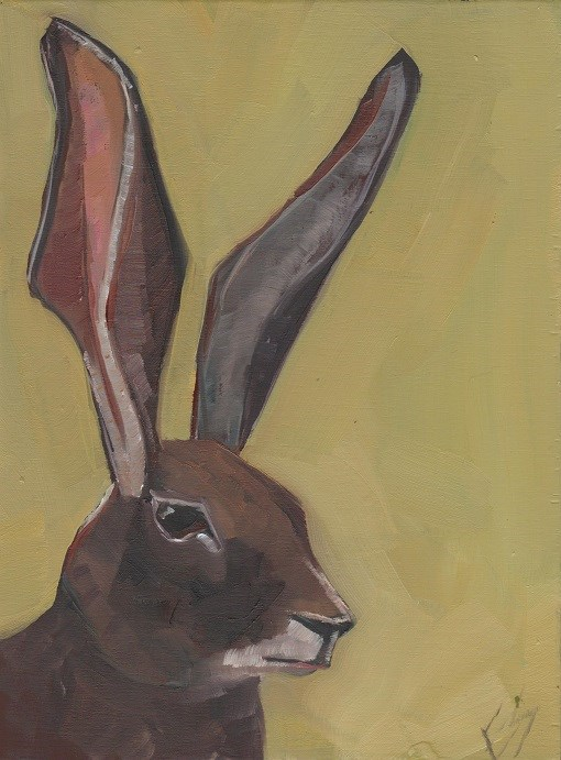"""Jackrabbit"" original fine art by Elizabeth See"