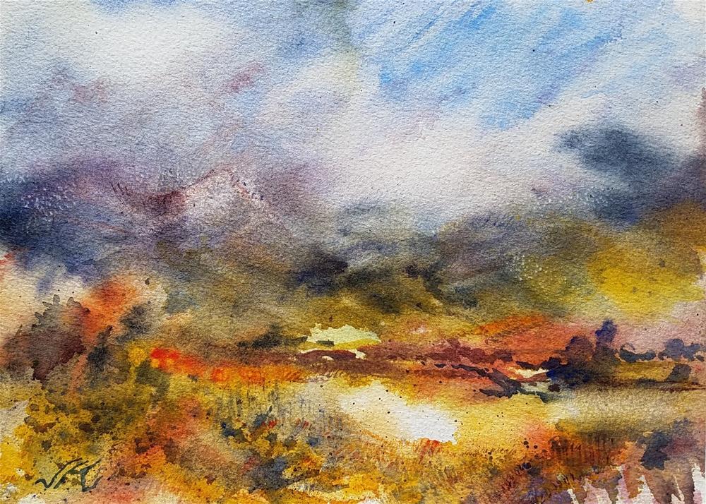 """""""Sangres de Cristo Mountains, Colorado, USA"""" original fine art by Jean Krueger"""