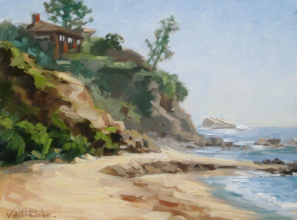 """Little Corona Beach"" original fine art by Karen Werner"