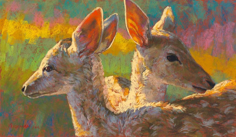"""Twin Fawns"" original fine art by Rita Kirkman"