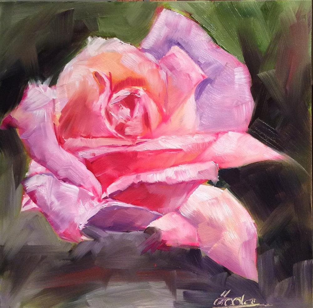 """Blushing"" original fine art by Hoda Nicholas"