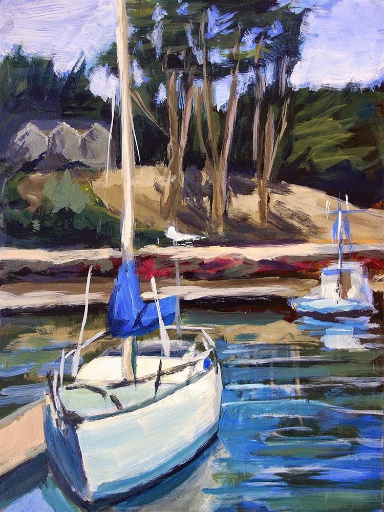"""Two Boats"" original fine art by J. Farnsworth"