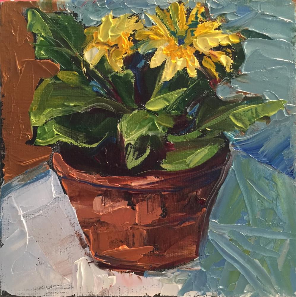 """""""Happy Flower"""" original fine art by Janet Zabilski"""