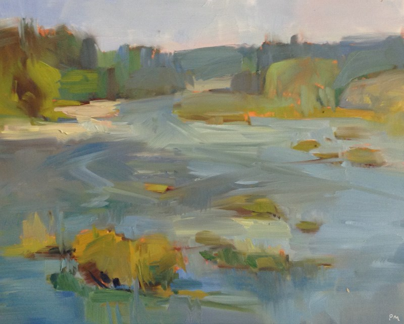 """Umpqua River Morning"" original fine art by Patti McNutt"