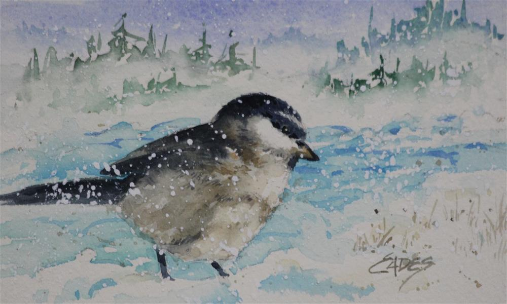 """Tiny Little Snowbird"" original fine art by Linda Eades Blackburn"
