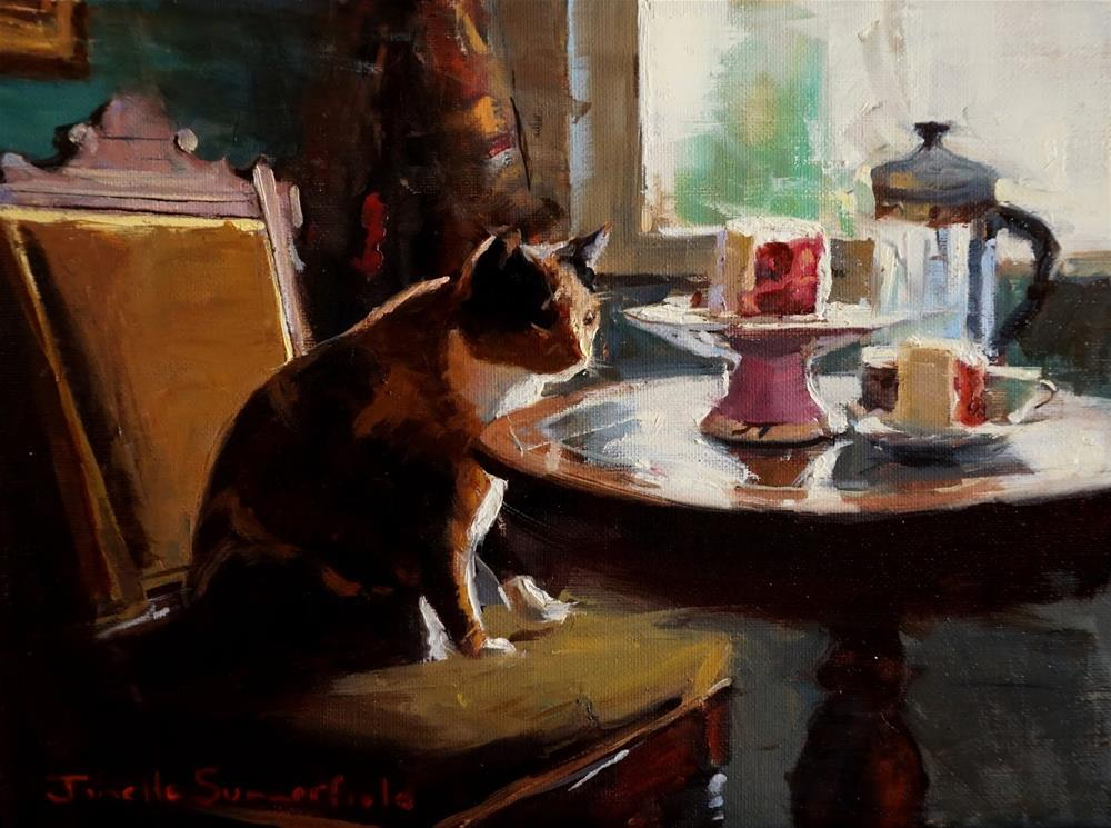 """Afternoon Tea"" original fine art by Jonelle Summerfield"