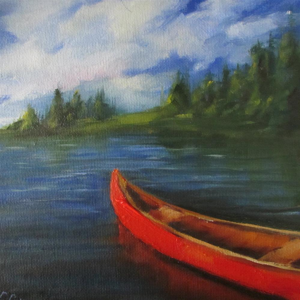 """Adrift"" original fine art by Linda Carney"