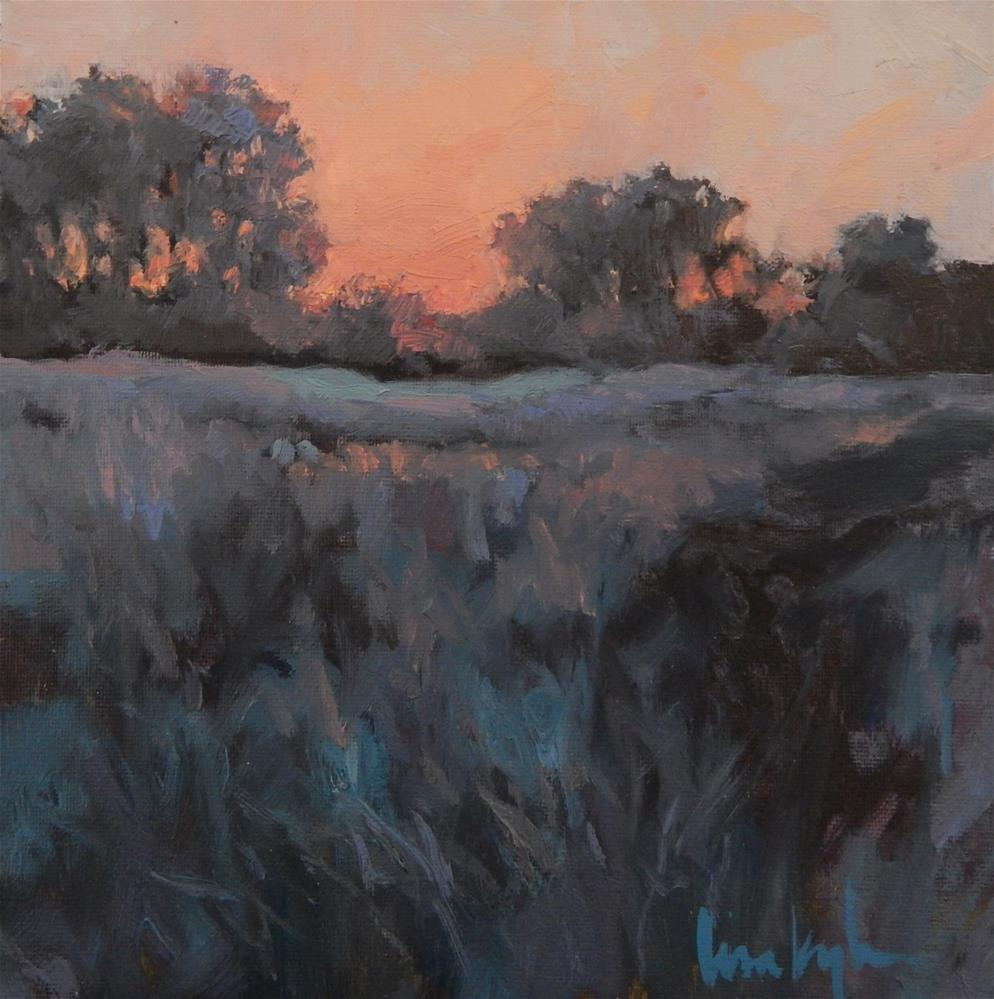 """Sunset on the Meadow"" original fine art by Lisa Kyle"