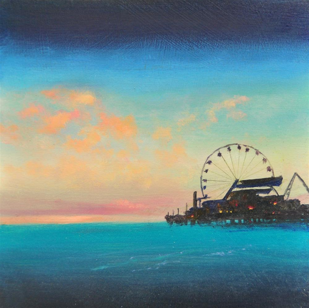 """Santa Monica"" original fine art by Gerald Schwartz"