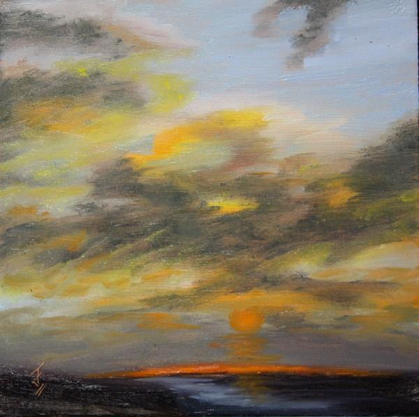 """""""Streaked Skies"""" original fine art by Jane Frederick"""