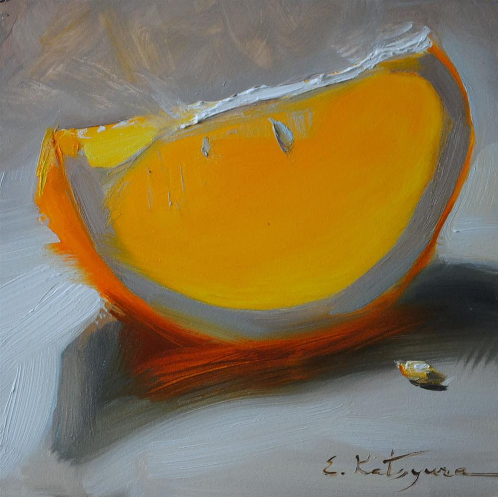 """Orange Orange Burning Bright"" original fine art by Elena Katsyura"