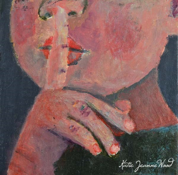 """Shh! Your Life is Beautiful No 2"" original fine art by Katie Jeanne Wood"