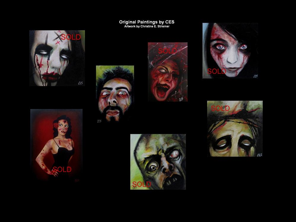 """""""Custom Zombie Portrait"""" original fine art by ~ces~ Christine E. S. Code"""