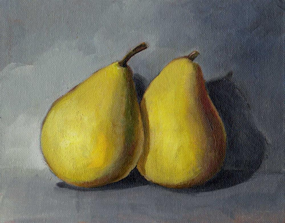 """pears"" original fine art by V. DeBak"