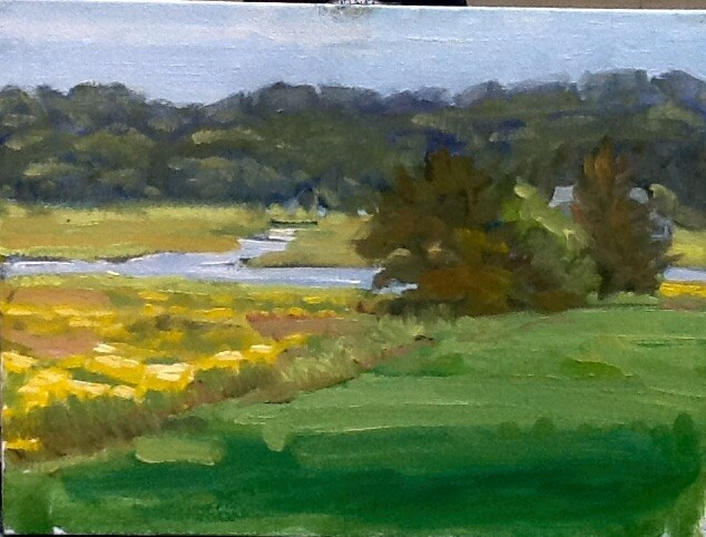 """Late September Marsh"" original fine art by Elizabeth Bish"
