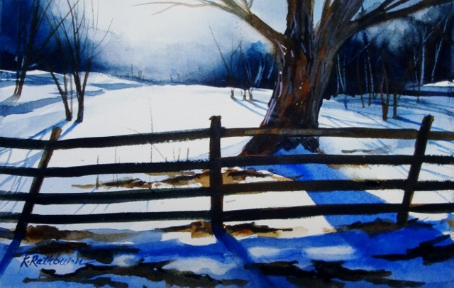 """Into the Light"" original fine art by Kathy Los-Rathburn"