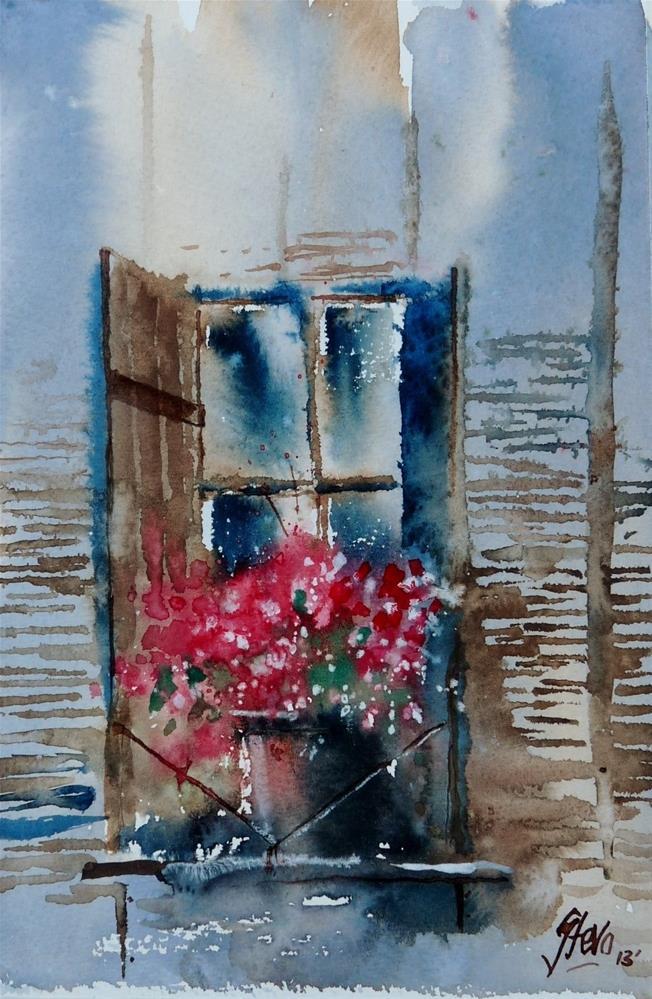 """The Window Box"" original fine art by Martin Stephenson"