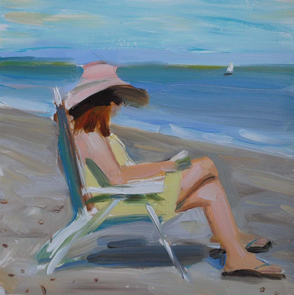 Summer Holidays. Tybee Island. original fine art by Elena Katsyura