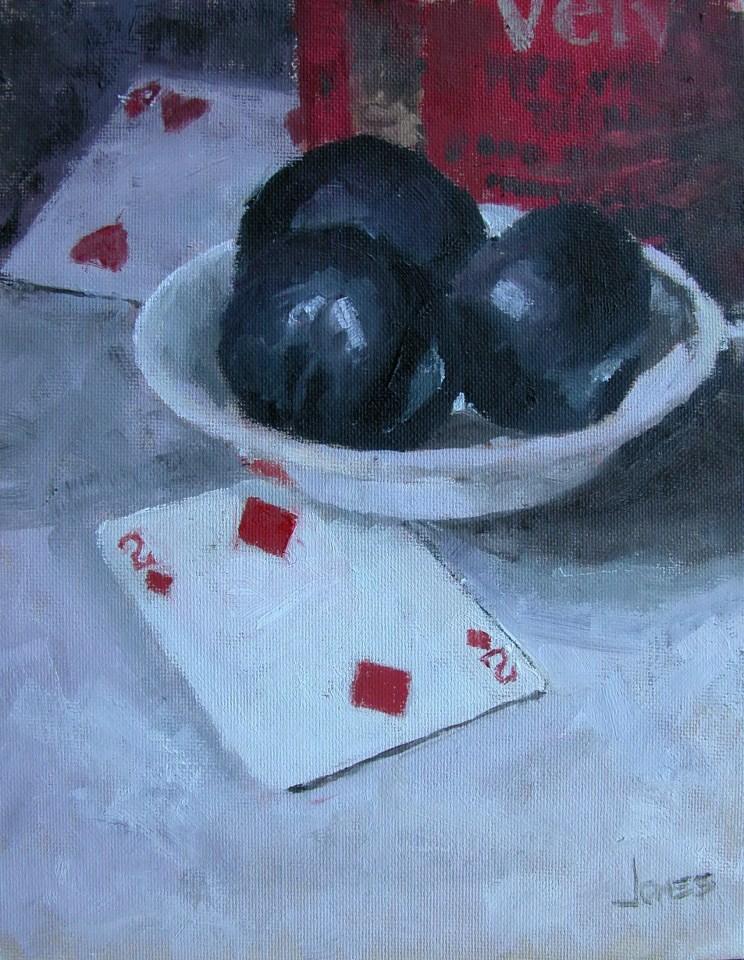 """Black Plums"" original fine art by Richard Jones"