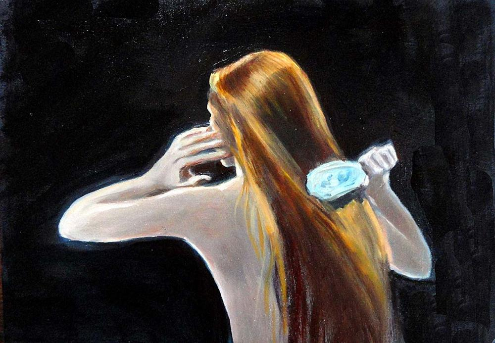 """Rapunzel II"" original fine art by Cietha Wilson"