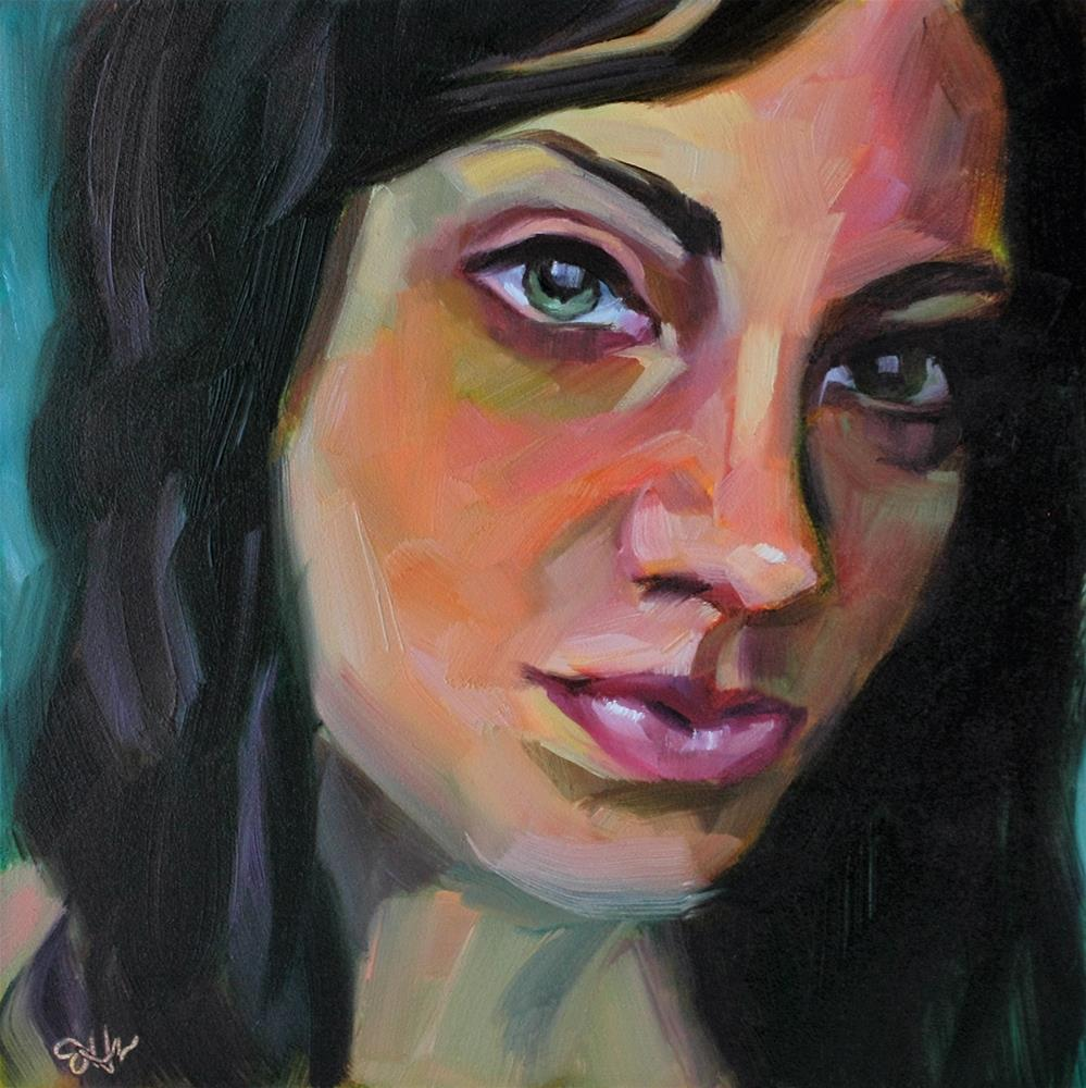 """Sardonic"" original fine art by Janette Harter"