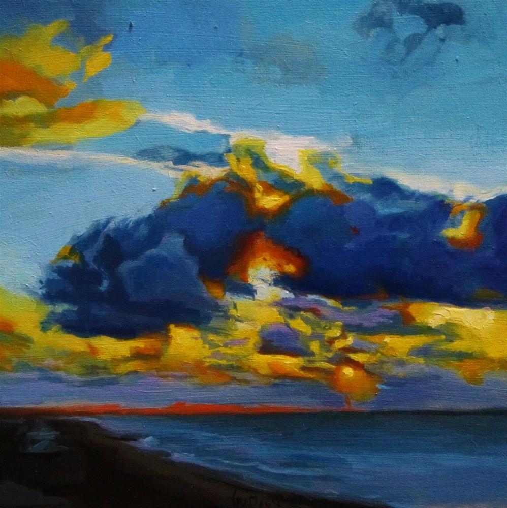 """Cloudy sky"" original fine art by Víctor Tristante"