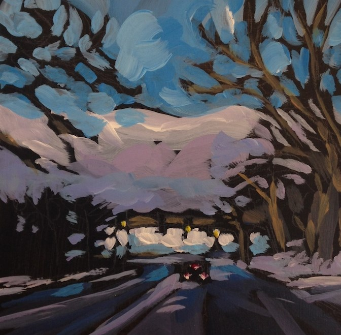"""36th Street to Lake Calhoun"" original fine art by Kat Corrigan"