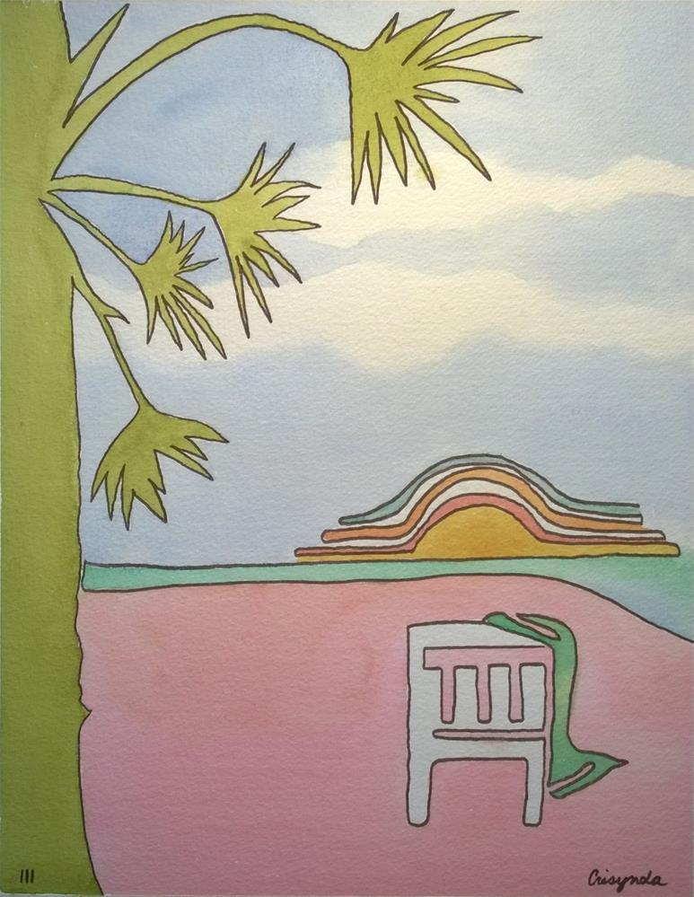 """Pink sand"" original fine art by Crisynda Buss"