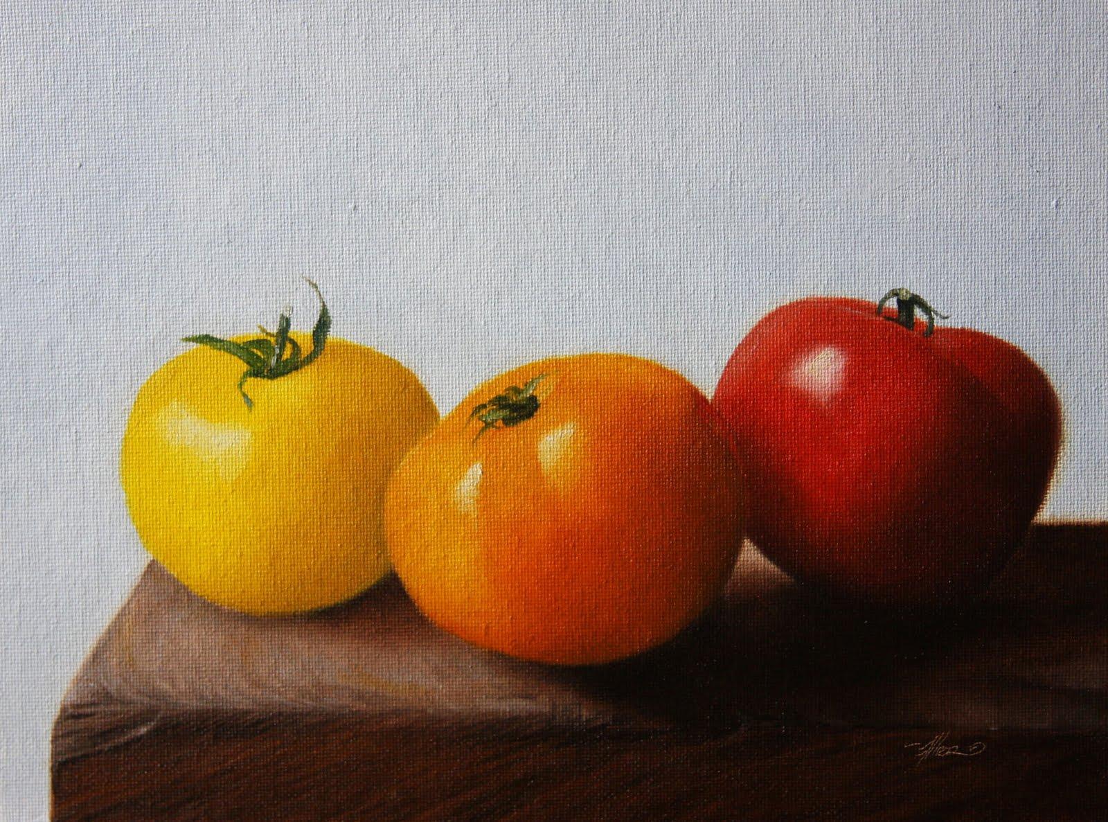 """Tomato Colors"" original fine art by Jonathan Aller"