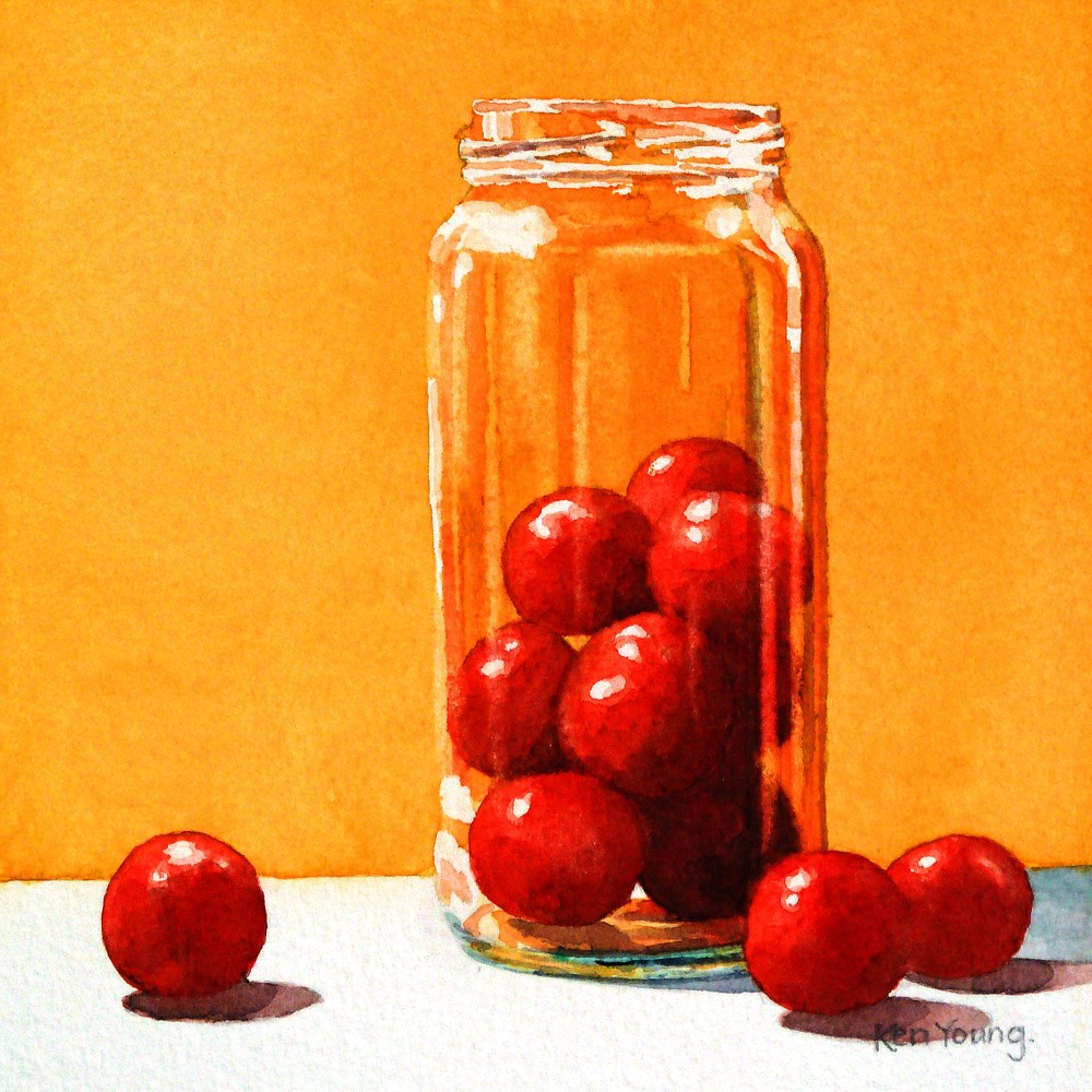 """""""Cherry Tomatoes"""" original fine art by Ken Young"""