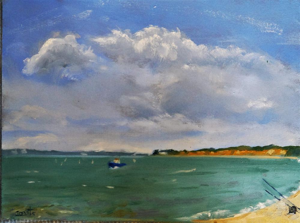"""Hilhead towards Southampton Water"" original fine art by Robin Coutts"
