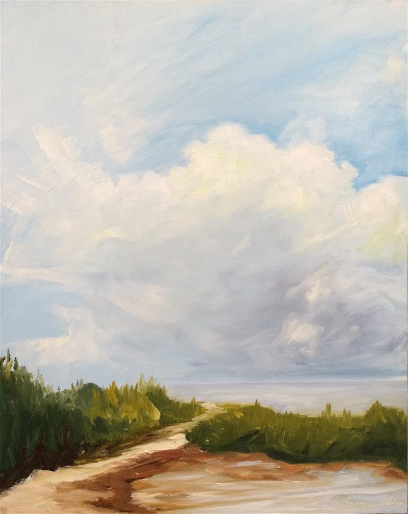 """Cloud Scape"" original fine art by Kim Clay"