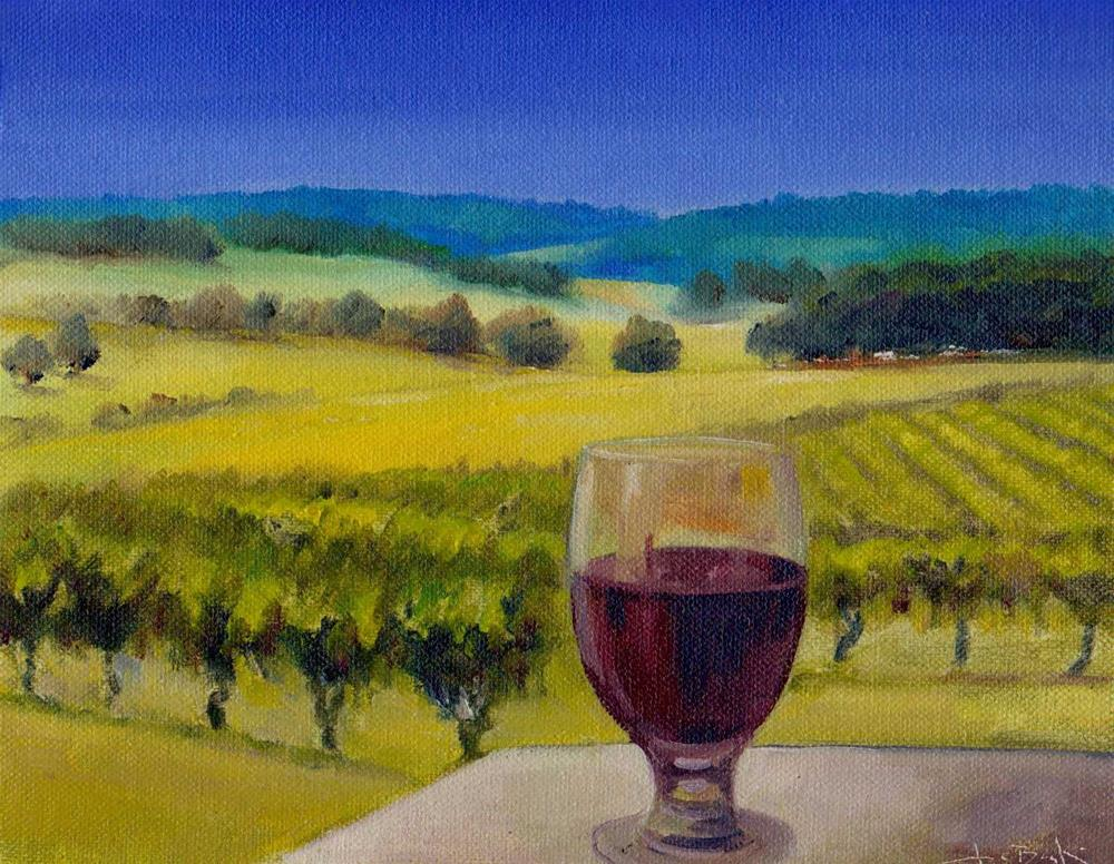"""challenge. Grapes"" original fine art by V. DeBak"