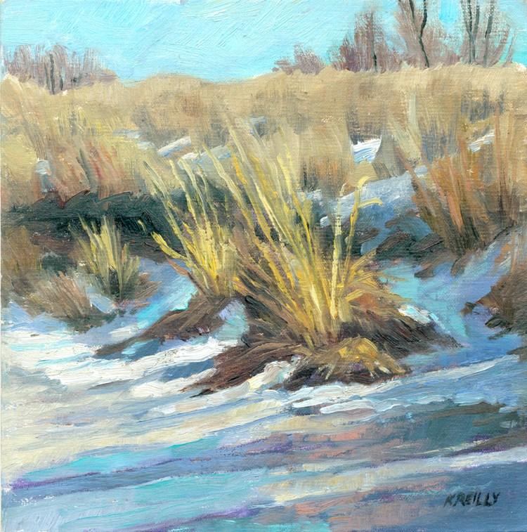 """Backwater Ice"" original fine art by Kath Reilly"