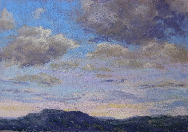 """At Dusk"" original fine art by Ruth Mann"