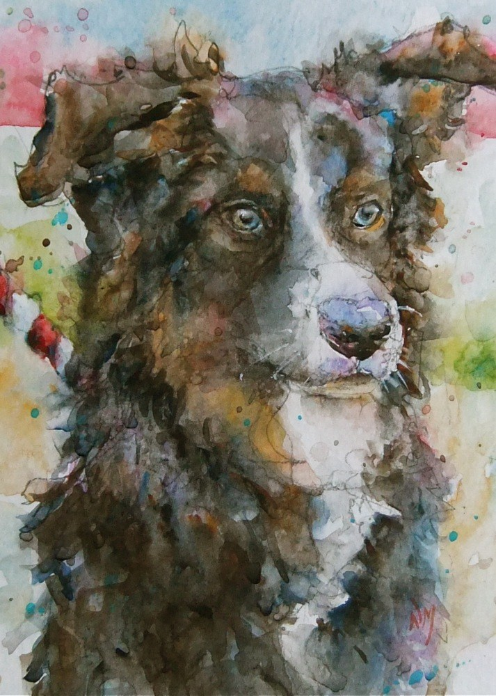 """Snickers"" original fine art by Nora MacPhail"